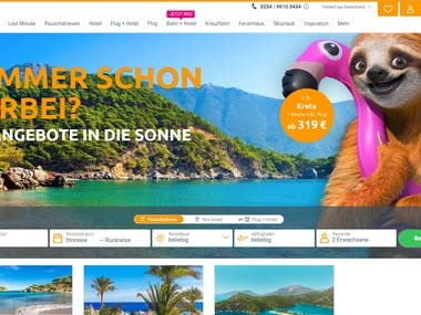 Web site for Traveling Resort with ReactJS
