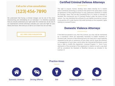 Designed and Developed Complete Website for the Law Firm