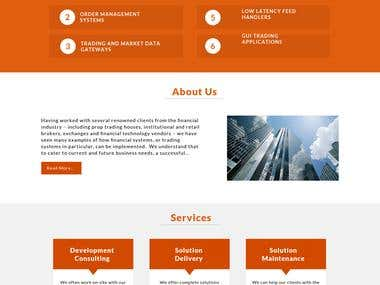 Website Designed for Consultant Company