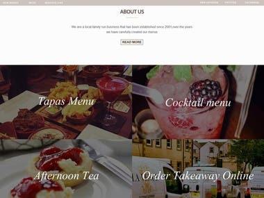 LaVenue- Cafe Website