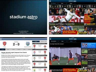 iPhone, iPad, Android - Stadium Astro