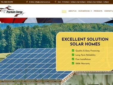 Solar Panel Website