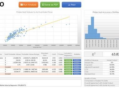 Multivariate Regression Dashboard in Microsoft Excel