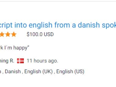Transscript into english from a danish spoken video