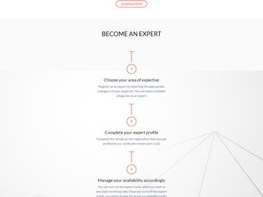 UDo - Expert Advice on-demand Website