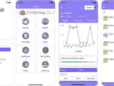Lumlight School App