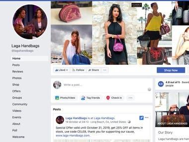 Social Media Marketing for Laga Handbags