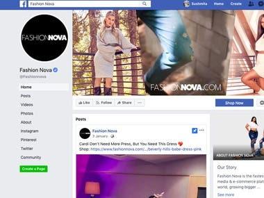 Social Media Marketing for Fashion Nova