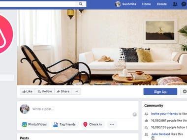 Social Media Marketing for airbnb