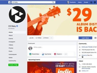 Social Media Marketing for CD Baby