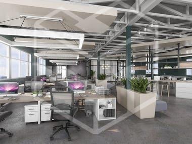 Office'S - Render Interior