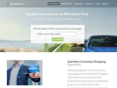 Insurance Website based in Laravel