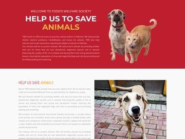 Website Designed for Todd's Welfare Society