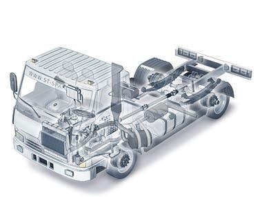 Cutaway car