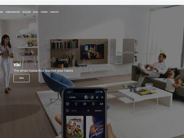 VIKI Smart Home (PHP, Laravel, Youtube, Google Font API)