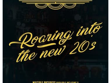 """Poster """"Roaring Into The New 20's Party"""""""