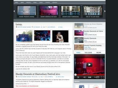 WordPress Website - Skanky Sounds