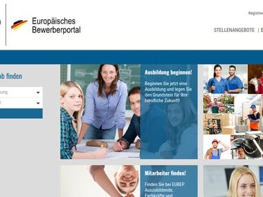 eUBEP- A job platform in Germany