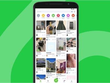 Shopping mobile app.