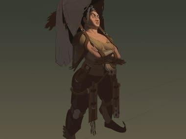 Cruel taskmaster character design