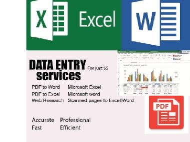 I will provide quality excel, word and power point services