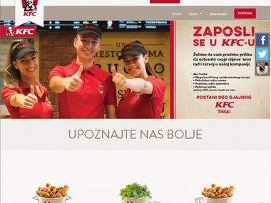 KFC.rs Restaurant Site (Laravel, Angular JS)