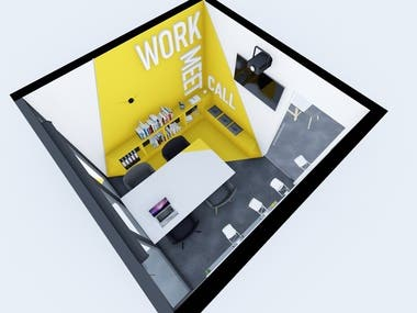 The interior design for small office