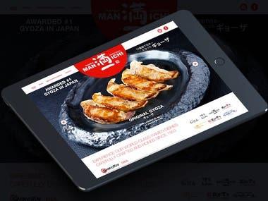 Manichi Ramen Restaurant Website Design