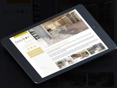 Thai Box LLC Restaurant Website
