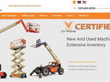 A website to rent or sell his new and used equipment.