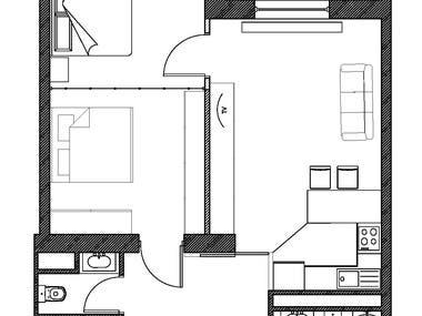 2D plans for 75 sq.m. apartment