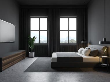 modern bed room interior design