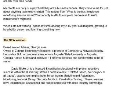 LinkedIn ProFinder Pro biography
