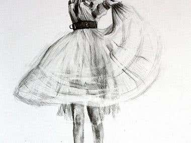 Pencil illustration - figure drawing