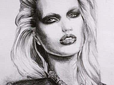 Pencil illustration - portrait