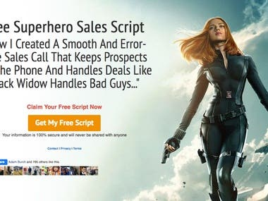 Sales Funnel Squeeze Page Example