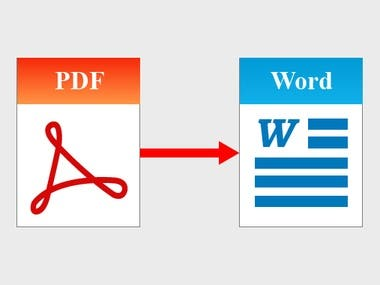 PDF to word/Excel