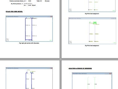 Design Calculation of Light Electric Pole