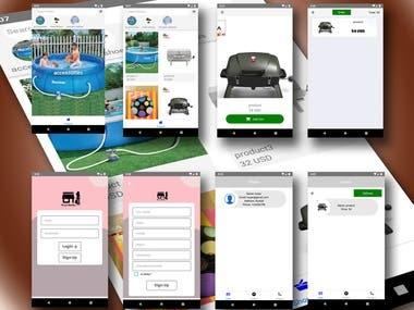 E-shop portal app