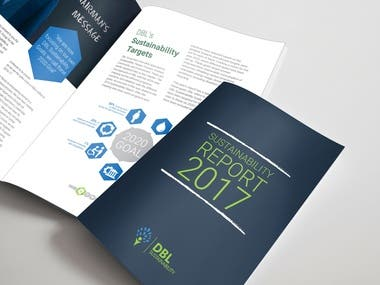 Sustainability Report Book Design