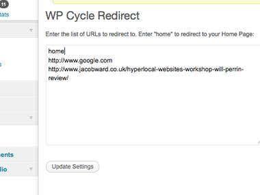 WordPress Plugin - WP Cycle Redirect