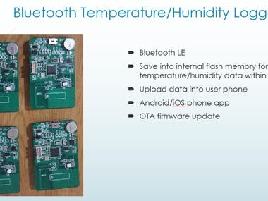 Bluetooth Temperature/Humidity Logger