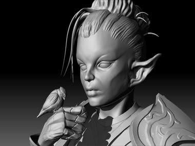 Elf woman sketch