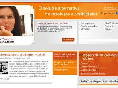 Mediator WordPress website