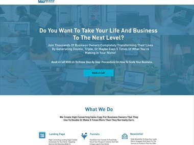 Sales Copy For Landing Pages + Logo