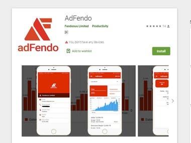 AdFendo Mobile App For Statistics