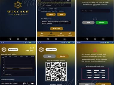 Wincash Wallet APP (android and ios)
