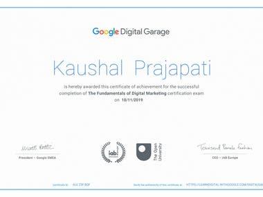 Google Digital Marketing Certificate