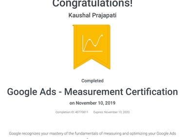 Google Ads - Measurement Certificate