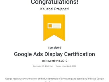 Google Ads Display Certificate